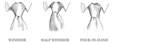 Credit Mr Porter - different tie knots